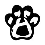 Anarchy Flag Symbol for Anarchists Magnet (Paw Print)
