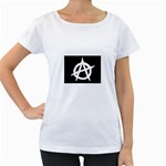 Anarchy Flag Symbol for Anarchists Maternity White T-Shirt