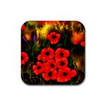 Poppies  2 Ave Hurley Ah 001 164 Png Rubber Square Coaster (4 pack)