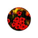Poppies  2 Ave Hurley Ah 001 164 Png Rubber Round Coaster (4 pack)