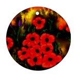 Poppies  2 Ave Hurley Ah 001 164 Png Round Ornament (Two Sides)