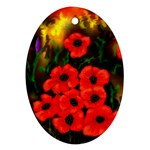 Poppies  2 Ave Hurley Ah 001 164 Png Oval Ornament (Two Sides)