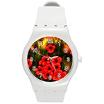 Poppies  2 Ave Hurley Ah 001 164 Png Round Plastic Sport Watch Medium