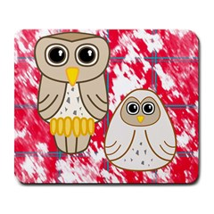 Two Owls Large Mouse Pad (rectangle) by uniquedesignsbycassie