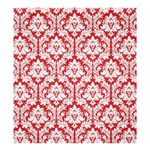 Poppy Red Damask Pattern Shower Curtain 66  x 72  (Large)
