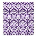 Royal Purple Damask Pattern Shower Curtain 66  x 72  (Large)