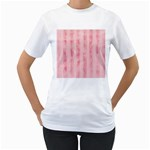 Pink Grunge Women s Two-sided T-shirt (White)