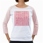 Pink Grunge Women s Long Cap Sleeve T-Shirt (White)