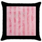 Pink Grunge Black Throw Pillow Case