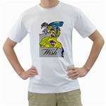 Faerie Wish Men s Two-sided T-shirt (White)