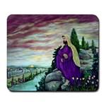 Jesus Overlooking Jerusalem-by AveHurley of ArtRevu - Large Mousepad