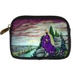 Jesus Overlooking Jerusalem-by AveHurley of ArtRevu - Digital Camera Leather Case