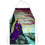 Jesus Overlooking Jerusalem-by AveHurley of ArtRevu - Full Print Apron