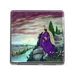 Jesus Overlooking Jerusalem-by AveHurley of ArtRevu - Memory Card Reader (Square)
