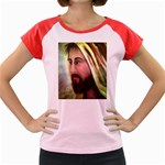 Jesus - Eyes of Compassion - Ave Hurley - Women s Cap Sleeve T-Shirt