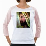Jesus - Eyes of Compassion - Ave Hurley - Girly Raglan