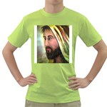Jesus - Eyes of Compassion - Ave Hurley - Green T-Shirt