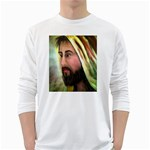 Jesus - Eyes of Compassion - Ave Hurley - Long Sleeve T-Shirt