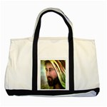 Jesus - Eyes of Compassion - Ave Hurley - Two Tone Tote Bag