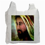 Jesus - Eyes of Compassion - Ave Hurley - Recycle Bag (One Side)