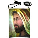 Jesus - Eyes of Compassion - Ave Hurley - Shoulder Sling Bag