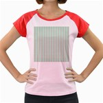 Hearts & Stripes Women s Cap Sleeve T-Shirt (Colored)