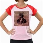 Harlequin Cat Women s Cap Sleeve T-Shirt (Colored)
