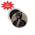 Harlequin Cat 1.75  Button Magnet (10 pack)