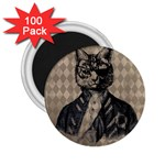 Harlequin Cat 2.25  Button Magnet (100 pack)