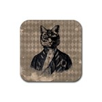 Harlequin Cat Drink Coaster (Square)