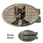 Harlequin Cat Money Clip (Oval)