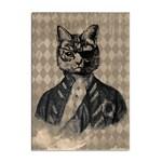 Harlequin Cat A4 Sticker 100 Pack