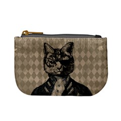 Harlequin Cat Coin Change Purse by StuffOrSomething