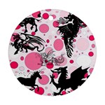Fantasy In Pink Round Ornament