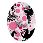 Fantasy In Pink Oval Ornament