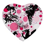 Fantasy In Pink Heart Ornament