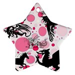 Fantasy In Pink Star Ornament