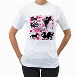 Fantasy In Pink Women s Two-sided T-shirt (White)