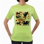 Fantasy In Pink Women s T-shirt (Green)