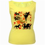 Fantasy In Pink Women s Tank Top (Yellow)
