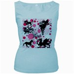 Fantasy In Pink Women s Tank Top (Baby Blue)