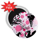 Fantasy In Pink 2.25  Button Magnet (10 pack)