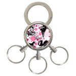 Fantasy In Pink 3-Ring Key Chain