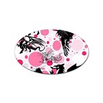 Fantasy In Pink Sticker (Oval)