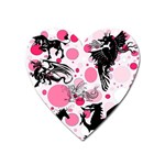 Fantasy In Pink Magnet (Heart)