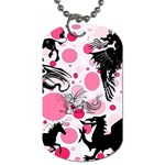 Fantasy In Pink Dog Tag (One Sided)