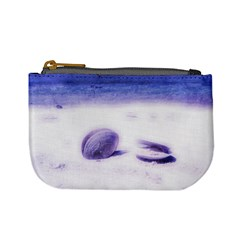 Dreamy Seashells Blue Pastels Coin Change Purse by stineshop