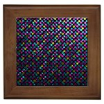 Polka Dot Sparkley Jewels 2 Framed Ceramic Tile