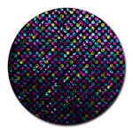 Polka Dot Sparkley Jewels 2 8  Mouse Pad (Round)