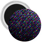 Polka Dot Sparkley Jewels 2 3  Button Magnet